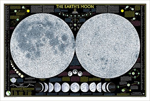 Earth's Moon detailed poster