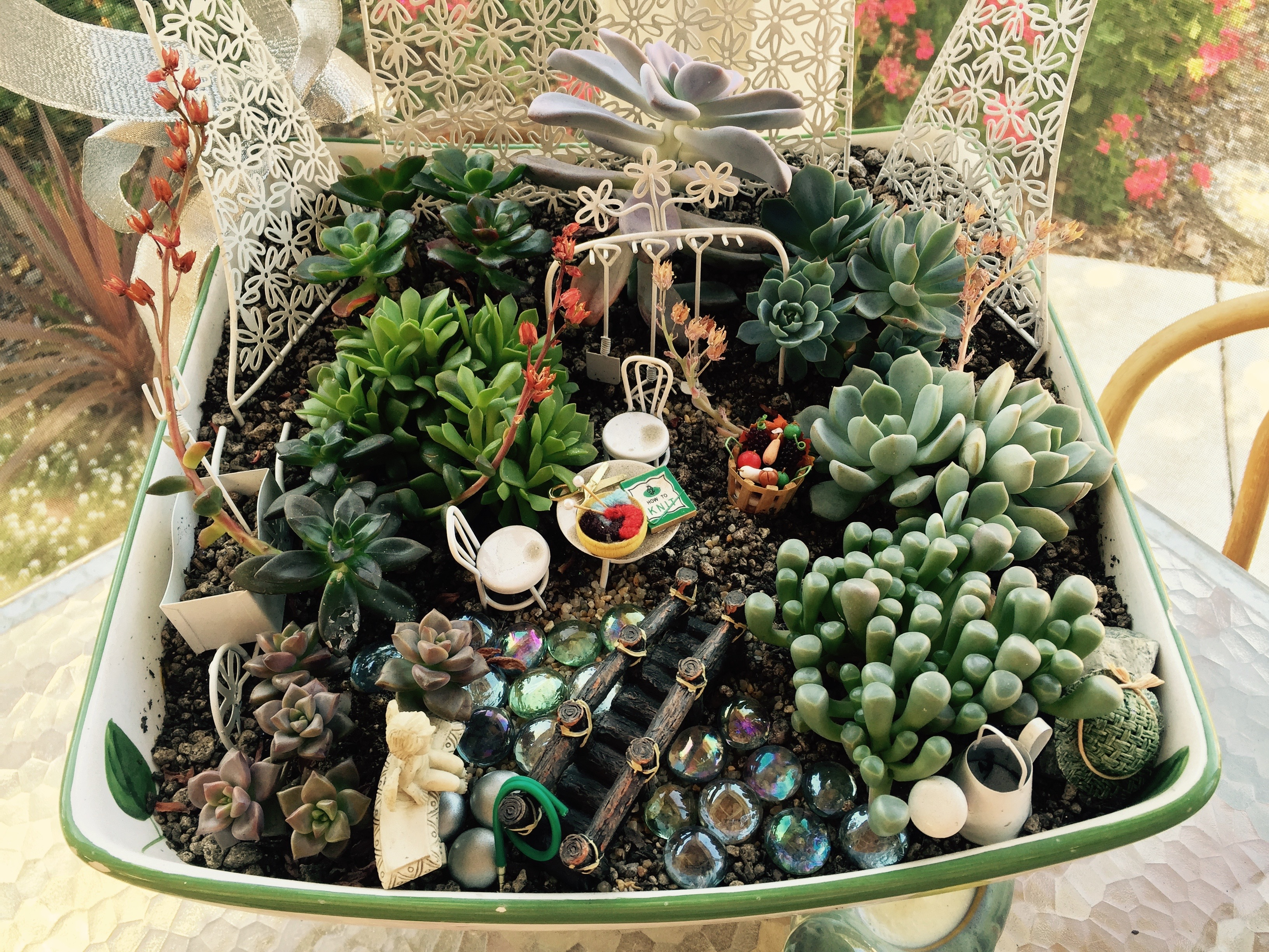 Fairy Garden In Its Space.