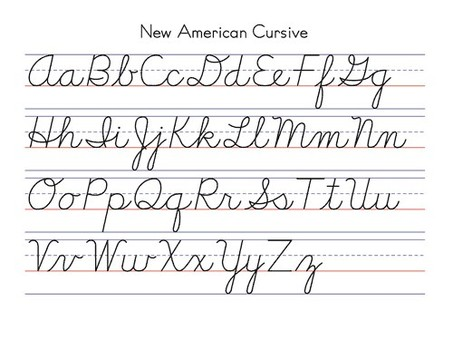 Handwriting Teaching Cursive And Manuscript Writing: calligraphy alphabet cursive