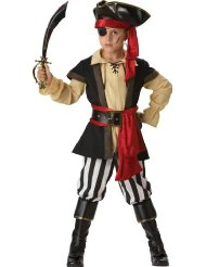 InCharacter Costumes, LLC Boys 2-7 Pirate Scoundrel Vest Set