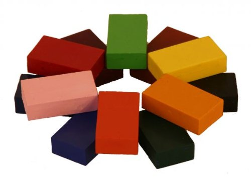Stockmar Beeswax Crayons for Waldorf art, Set of 12 Blocks in Carton