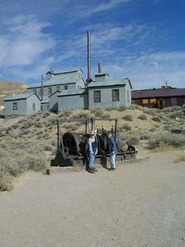 Gold Mine buildings at Bodie, CA.