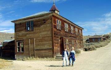 1879 schoolhouse at Bodie, CA ghost town.