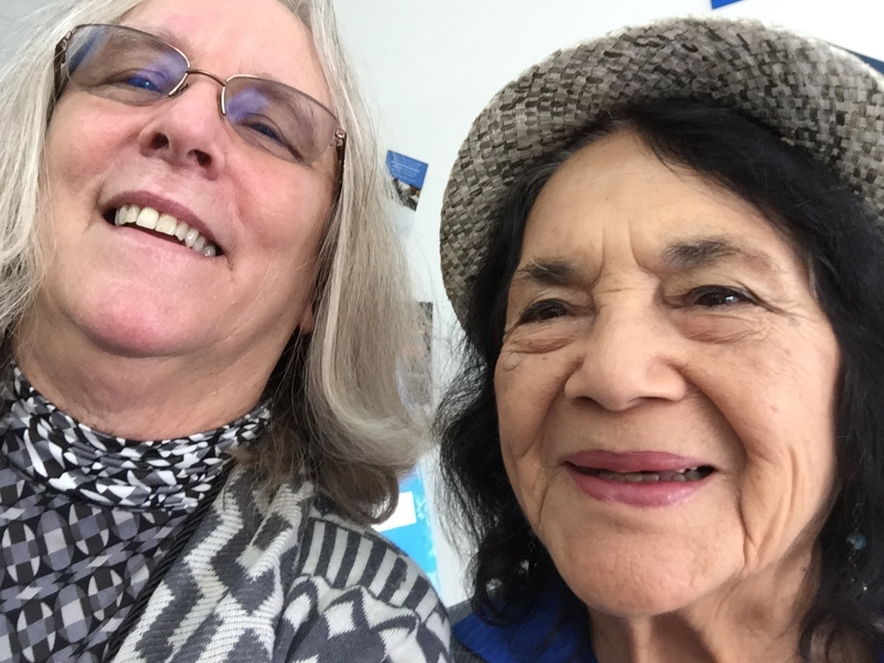 Ann Zeise and Delores Huerta, Oct 29, 2016