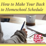 How to Make Your Back to Homeschool Schedule Thumbnail