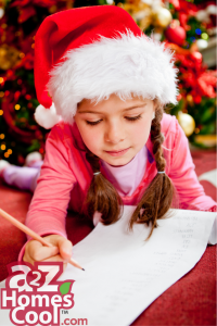 Kid writing to Santa.