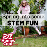 Spring! The birds are singing, and the sun is shining! It is the perfect time to spring out of the homeschool rut and have some STEM fun!