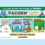 Enter to win a set of Acorn titles, a new line of illustrated early readers for ages 4-7 that plant a love of reading.