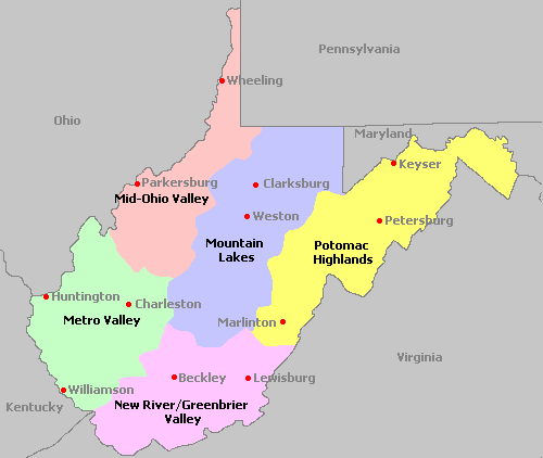 West Virginia Homeschool Regions